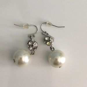 Ivory Pearl and Crystal Bridal Earrings